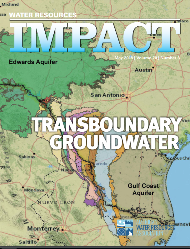 """journal cover and title """"transboudary groundwater"""""""