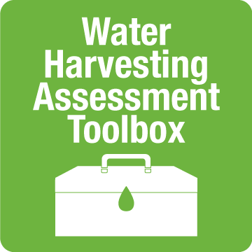 graphic reading: Water Harvesting Assessment Toolbox