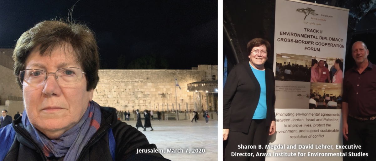 Sharon B. Megdal in Jerusalem and at a conference in Israel