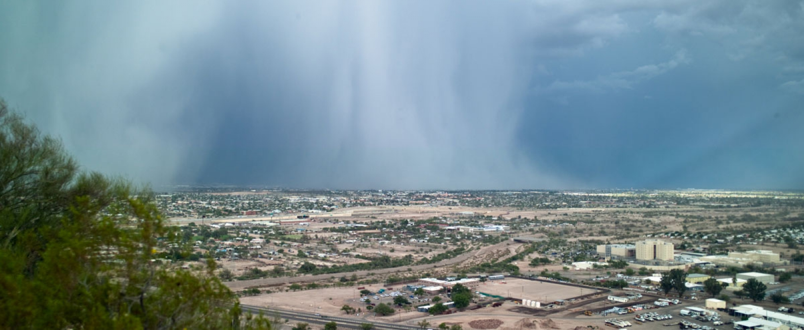 monsoon over city