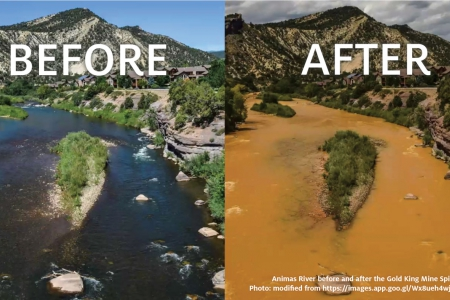 Gold King Mine waste water spill before and after