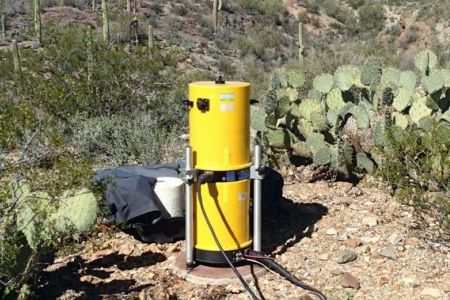 Tucson AMA station with monitoring equipment