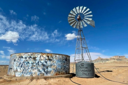 Windmill and water tank